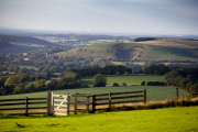 A view of East Meon from the South Downs